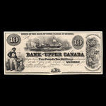 Canada, Bank of Upper Canada (York), 10 dollars <br /> January 31, 1857