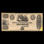 Canada, Bank of Upper Canada (York), 1 dollar <br /> 1838