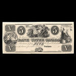 Canada, Bank of Upper Canada (York), 5 dollars <br /> 1838