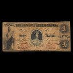 Canada, Bank of Upper Canada (York), 4 dollars <br /> November 13, 1860