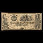 Canada, Merchants Bank (The), 1 dollar <br /> December 5, 1836