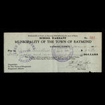 Canada, Town of Raymond, 46 dollars <br /> January 4, 1934