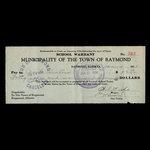 Canada, Town of Raymond, 46 dollars <br /> January 4, 1934