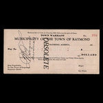 Canada, Town of Raymond, no denomination <br /> 1935