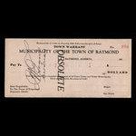 Canada, Town of Raymond, no denomination <br /> 1935