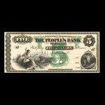 Canada, People's Bank of Halifax, 5 dollars <br /> 1899