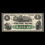 Canada, Pictou Bank, 4 dollars <br /> January 2, 1874