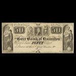 Canada, Gore Bank of Hamilton, 50 dollars <br /> 1848