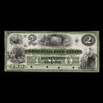 Canada, Commercial Bank of Canada, 2 dollars <br /> January 2, 1860