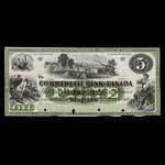 Canada, Commercial Bank of Canada, 5 dollars <br /> January 2, 1860