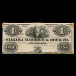 Canada, Niagara Harbour & Dock Co., 1 dollar <br /> 1841