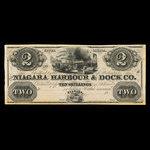 Canada, Niagara Harbour & Dock Co., 2 dollars <br /> 1841