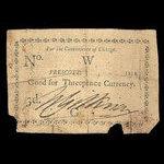 Canada, W. Gittinear, 3 pence <br /> 1814