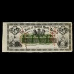 Canada, Bank of British North America, 5 dollars <br /> September 27, 1859