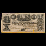 Canada, Bank of Montreal, 10 dollars <br /> April 2, 1844