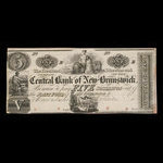 Canada, Central Bank of New Brunswick, 1 dollar <br /> 1857