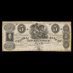Canada, Central Bank of New Brunswick, 5 pounds <br /> 1857