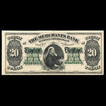Canada, Merchants Bank of Prince Edward Island, 20 dollars <br /> 1892