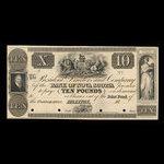 Canada, Bank of Nova Scotia, 10 pounds <br /> 1852