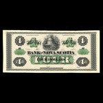 Canada, Bank of Nova Scotia, 4 dollars <br /> July 1, 1870