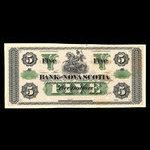 Canada, Bank of Nova Scotia, 5 dollars <br /> July 1, 1870