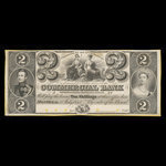 Canada, Commercial Bank of the Midland District, 2 dollars <br /> July 1, 1843