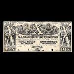 Canada, Banque du Peuple (People's Bank), 10 dollars <br /> 1849
