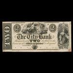 Canada, City Bank (Montreal), 2 dollars <br /> 1865