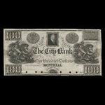 Canada, City Bank (Montreal), 100 dollars <br /> 1840