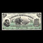 Canada, Banque Jacques-Cartier, 10 piastres <br /> June 1, 1886