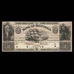 Canada, Bank of Montreal, 2 dollars <br /> January 1839