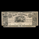 Canada, Bank of Montreal, 10 dollars <br /> 1839