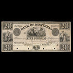 Canada, Bank of Montreal, 20 dollars <br /> January 1839