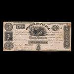 Canada, Banque du Peuple (People's Bank), 5 dollars <br /> 1836