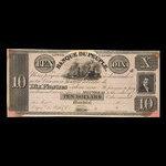 Canada, Banque du Peuple (People's Bank), 10 dollars <br /> 1836