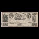 Canada, Banque Canadienne, 5 dollars <br /> 1838