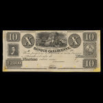 Canada, Banque Canadienne, 10 dollars <br /> 1838