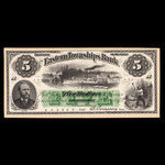 Canada, Eastern Townships Bank, 5 dollars <br /> July 1, 1873