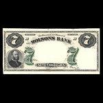 Canada, Molsons Bank, 7 dollars <br /> November 1, 1871