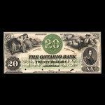 Canada, Ontario Bank, 20 dollars <br /> August 3, 1860