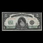 Canada, Dominion of Canada, 1 dollar <br /> March 17, 1917