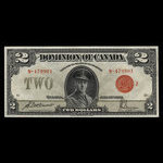 Canada, Dominion of Canada, 2 dollars <br /> June 23, 1923