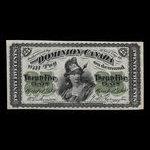 Canada, Dominion of Canada, 25 cents <br /> March 1, 1870