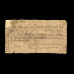 Canada, Army Bill Office, 1 dollar <br /> March 1814
