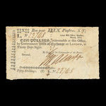 Canada, Army Bill Office, 10 dollars <br /> March 1814
