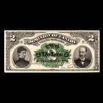 Canada, Dominion of Canada, 2 dollars <br /> July 2, 1887