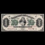 Canada, Dominion of Canada, 500 dollars <br /> July 1, 1871