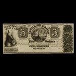 Canada, Cuvillier & Sons, 5 dollars <br /> 1838