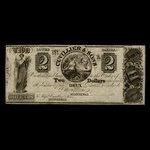 Canada, Cuvillier & Sons, 2 dollars <br /> 1838