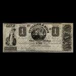 Canada, Cuvillier & Sons, 1 dollar <br /> 1838
